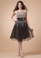 Beading Bodice For Prom Dress With Leopard and Net