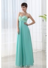 Empire Apple Green Sweetheart Backless Beading Prom Dress