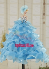 Cute Baby Blue Barbie Doll Dress in 2015