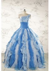 Discount One Shoulder Printed Quinceanera Dresses for 2015