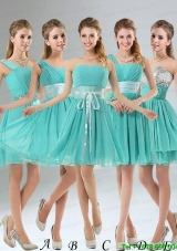 2015 A Line Ruching Lace Up Christmas Party Dress in Aqua Blue