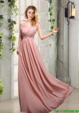 Scoop Empire Ruching 2015 Decent Prom Dresses