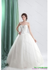 Top Selling White Sweetheart Bridal Gowns with Ruffles and Beading