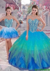 Wonderful Ball Gown Detachable Quinceanera Dresses in Multi Color