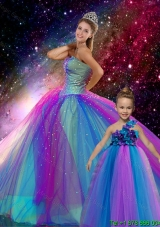 2015 Fall Classical Ball Gown Sweetheart Multi Color Matching Sister with Beading