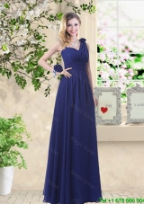 Cheap Hand Made Flowers Dama Dresses with Asymmetrical