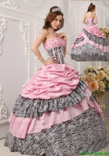 Cheap Ball Gown Strapless Quinceanera Gowns in Multi Color