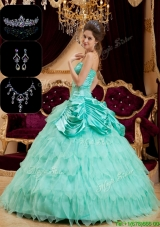Cheap Strapless Quinceanera Gowns with Pick Ups and Ruffles