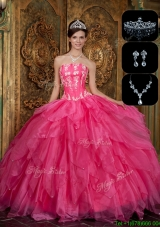 Cheap Strapless Sweet 16 Dresses with Appliques and Ruffles