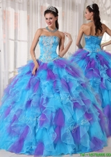 Fashionable Ball Gown Beading and Appliques Quinceanera Dresses