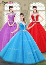 Perfect Halter Top Quinceanera Gowns with Beading