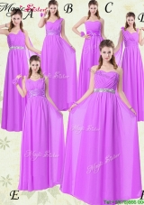 2016 Wonderful Empire Ruching Bridesmaid Dresses for Fall