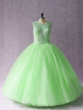 Affordable Sweetheart Sleeveless Sweet 16 Quinceanera Dress Asymmetrical Beading Tulle