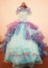 Beautiful Ruffles Little Girl Pageant Dress Straps Multi-color With Organza In 2013  Pageant Dresses