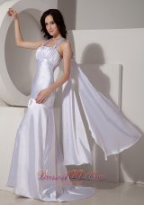 2013 Modest Lilac Halter Top Watteau Train Prom Dress