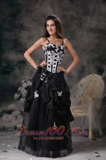 Plus Size Custom Made Black Straps Hand Made Flowers Norwich Connecticut Prom Dress