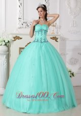 Puffy Modern Apple Green Quinceanera Dress Sweetheart Tulle and Taffeta Beading Ball Gown