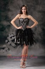 Black Ball Gown Cocktail Dress Sweetheart Mini-length Special Fabric