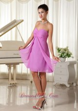 Lavender Sweetheart Ruched Bodice Chiffon For 2013 Cusomize Homecoming Dress  Dama Dresses