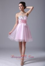 2013 Tulle Sweetheart Floor-length Pink 2013 Cocktail Dress With Beading