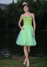 2013 Sweetheart Neckline Beaded Decorate Bodice Green 2013 Prom / Cocktail Dress