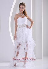 2013 Stylish Ruffles Design Own Prom Dress With Beading and Ruch in Summer