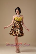 Multi-color A-line Sweetheart Mini-length Leopard Beading Prom Dress  Under 100