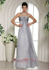 Fashion Gray Beaded Decorate Bust and Ruch Stylish Prom Celebrity Dress In North Carolina
