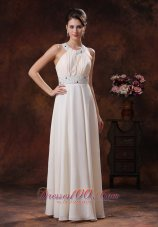 Fashion Scoop Custom Made Off White Beaded Decorate Waist Prom Dress In Page Arizona