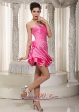 Sexy Beaded Decorate Cocktail Dress With Sweetheart Mini-length Organza  Cocktail Dress