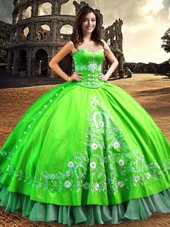 Spectacular Off the Shoulder Sleeveless Lace and Embroidery Floor Length Sweet 16 Quinceanera Dress