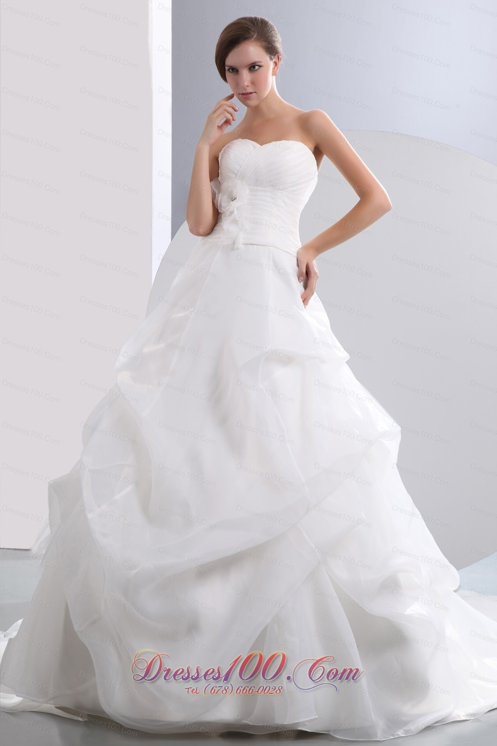 Beautiful a line sweetheart low cost wedding dress chapel for Low cost wedding dresses