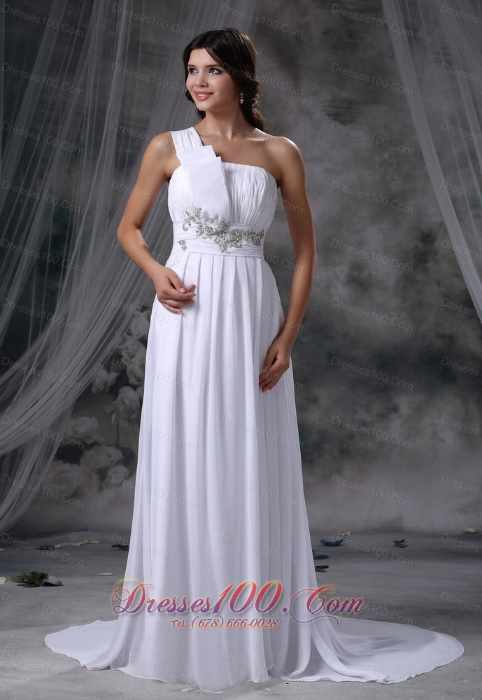 Pocahontas iowa beading decorate waist ruched decorate up for Wedding dresses in iowa