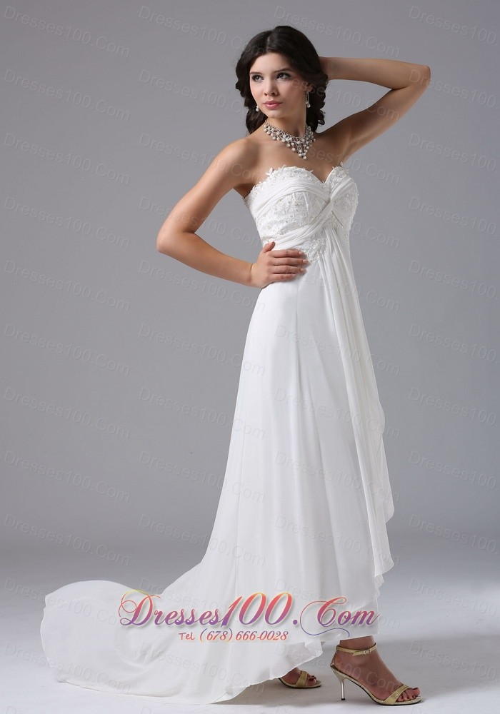 Custom made high low in carmel valley california for for High low sweetheart wedding dress