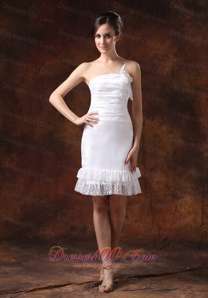 Affordable taffeta strapless knee length column sheath for Wedding dresses in michigan