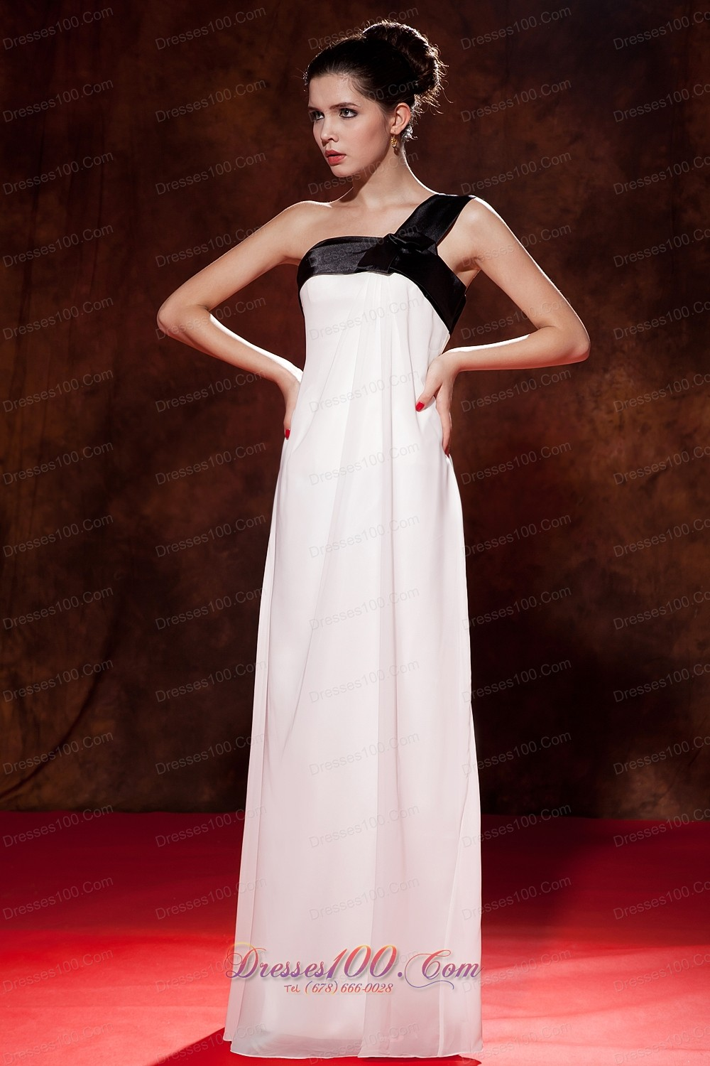 2013 pretty black and white cocktail dress bow empire one