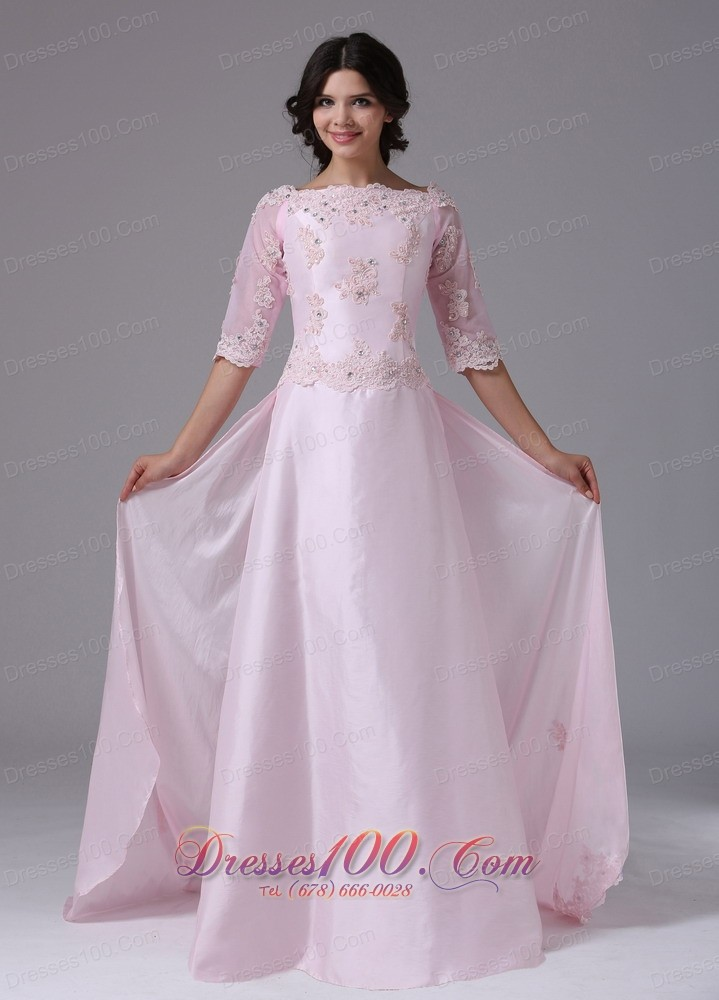 Elegant 1 2 Sleeves And Appliques For 2013 Mother Of The