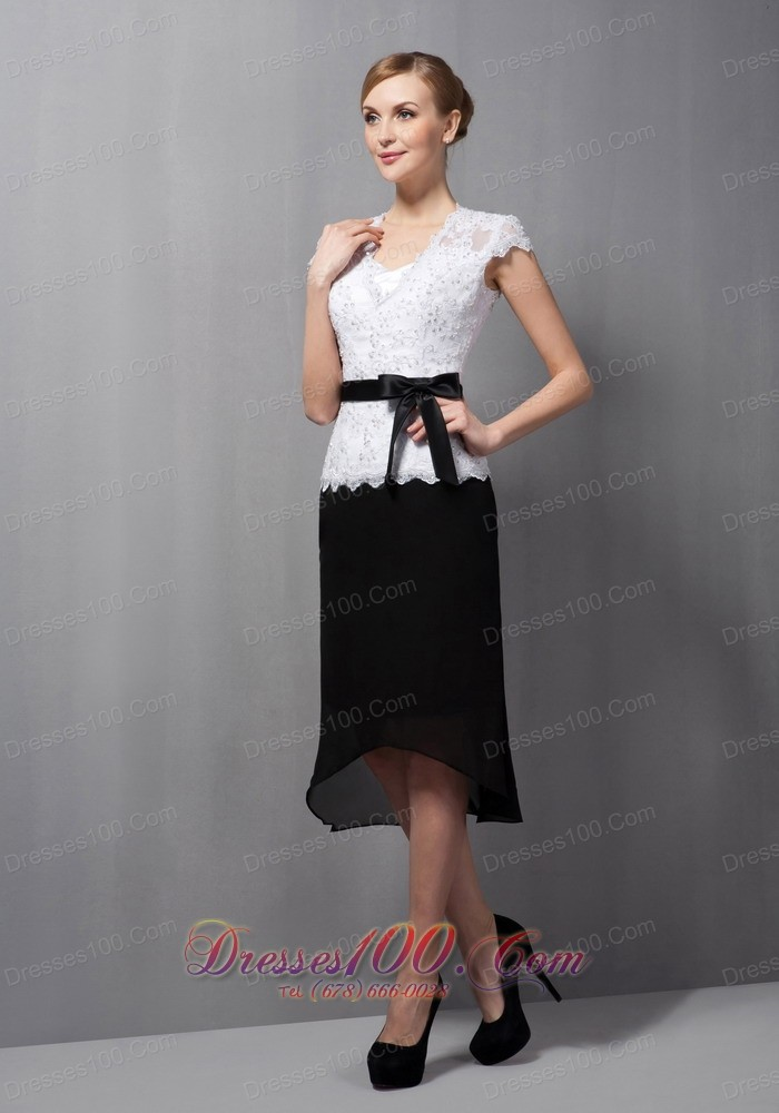 Modest black and white mother of the bride dress column for White dresses for wedding guests
