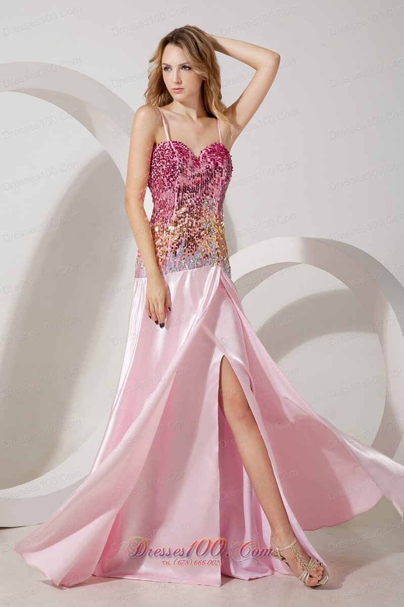 Pink Sequin Prom Dresses 2013 2013 Baby Pink ...
