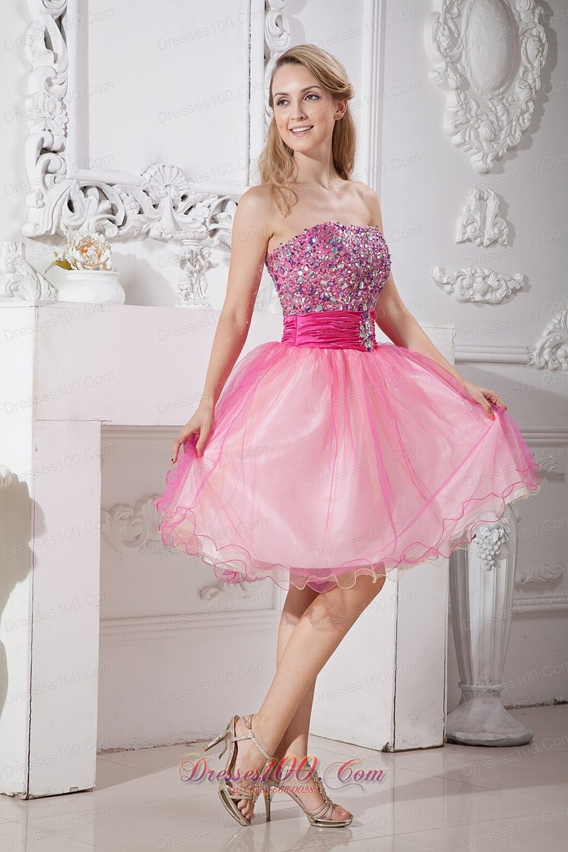 Pink Prom Dresses 2013 2013 Pink A-lin...