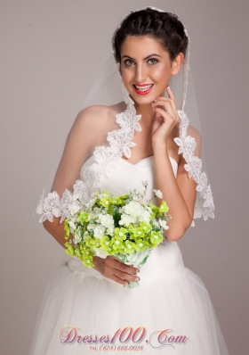 Lovely Green And White Hand-tied Wedding Bouquet