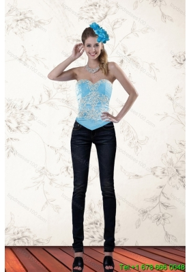 The Most Popular Ruffled Baby Blue Sweetheart Corset for 2015