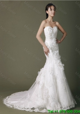Brand New Beading Lace Wedding Dresses with Court Train