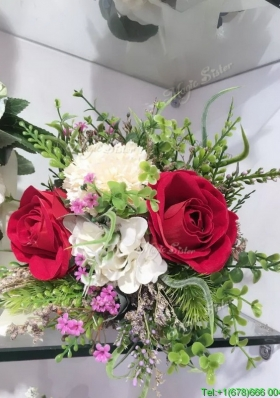 Wonderful Round Shape Wedding Bouquet in Multi Color