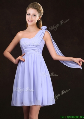 2017 Clearance One Shoulder Mini Length Prom Dress in Lavender