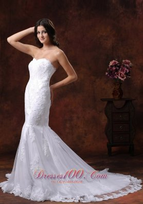 Mermaid Lace Over Decorate Shirt Wedding Dress In Gilbert Arizona  - Top Selling