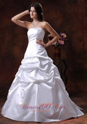 Litchfield Park Arizona Custom Made Strapless White A-line Wedding Dress