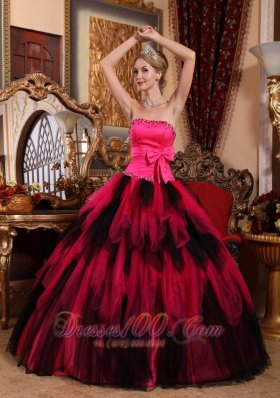 Wonderful Ball Gown Strapless Floor-length Tulle Beading Quinceanera Dress