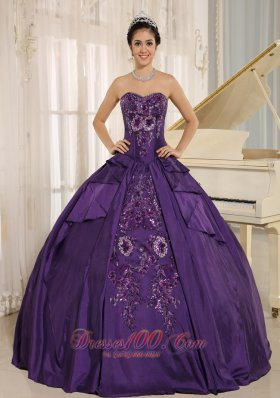 Eggplant Purple Embroidery Quinceanera Dress With Sweetheart In 2013 Pretty