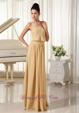 Champagne Empire For Simple Homecoming Dress Chiffon Zipper-up